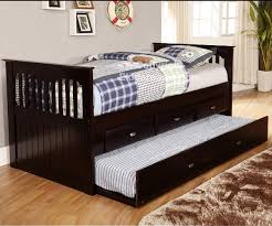 Trundle Bed Frame And Mattress Espresso Captains Trundle Bed Bed Frames Discovery World Furniture