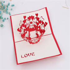 shop 3d greeting cards thank you card handmade pop up
