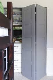 Folding Doors For Closets Diy Craftsman Style Closet Doors Shades Of Blue Interiors