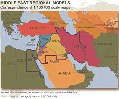 Middle Eastern Map Middle East Regional Models Digital Maps