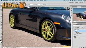 adobe photoshop how to change the color of wheels on a vehicle