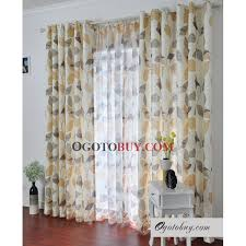 sweet daffodil leaf printed curtains buy daffodil jacquard eco