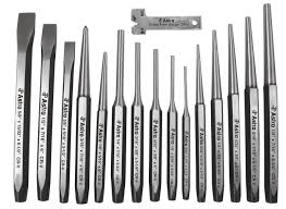 astro 1600 16 piece punch and chisel set amazon com