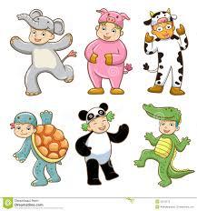 kid with animals costume stock photos image 32753673