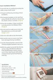 installing electric underfloor heating mats tiles or