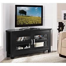 Furniture Design For Tv Corner Leick 46 In Corner Tv Stand Black Hayneedle