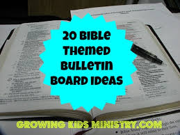 20 bible or sunday bulletin boards growing ministry