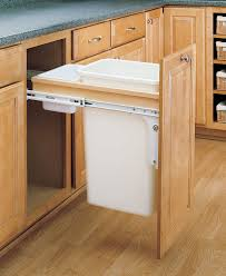 In Cabinet Trash Cans For The Kitchen Amazon Com Rev A Shelf 4wctm 1550dm 1 Single 50 Qt Pull Out