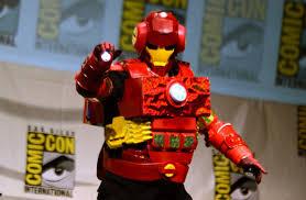 halloween iron man costume dan harmon in iron man suit by rob schrab at comic con