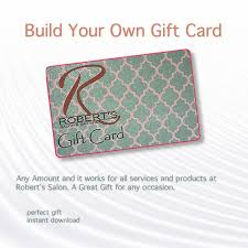 create a gift card robert s gift cards the gift for this season