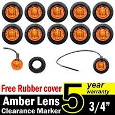 led side marker lights amazon com 10 pcs tmh 3 4 inch mount amber led clearance markers