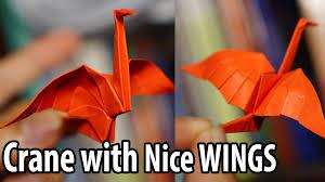 easy origami crane with nice wings tutorial diy henry phạm