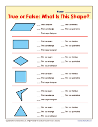 Math Worksheets For 5th Grade True Or False What Is This Shape 5th Grade Geometry Worksheets