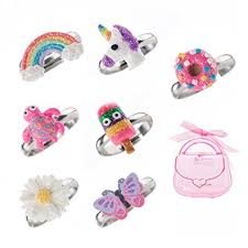 cute rings images Adjustable rings set for little girls colorful cute jpg