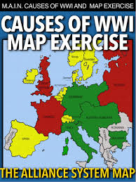 Blank Map Of Europe 1914 Printable by World War I Map Activity U0026 Main Causes Ww1 Map Activities