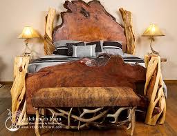 Wood Log Bed Frame Rustic Beds