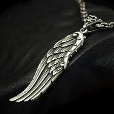 silver solid necklace images Wing pendant biker pendant silver pendant necklace biker jewelry jpg