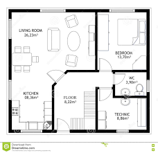 exle of floor plan drawing house plan construction house drawing plan background stock