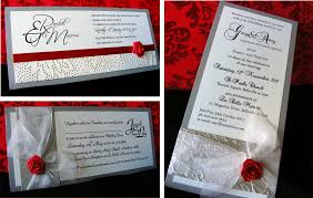 Red And Silver Wedding Red Silver Wedding Invitations