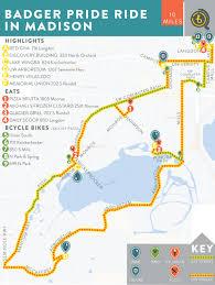 Madison Map Badger Pride Ride In Madison U2014 Bikabout