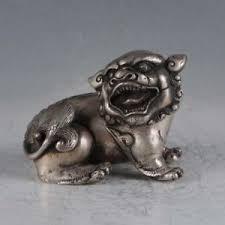 silver lion statue exquisite tibetan silver lion statues bt0116 ebay