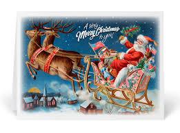 vintage santa card 36052 ministry