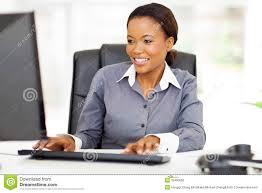 employé de bureau employé de bureau africain photo stock image du ethnicity 33490566