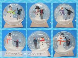 snow globes writing lesson and craft laughter globe and snow