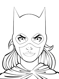 digging coloring page batgirl ready to throw her weapon colouring