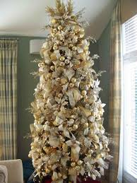 u white and gold tree decorations happy holidays silver