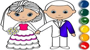 bride groom coloring book learn colors children