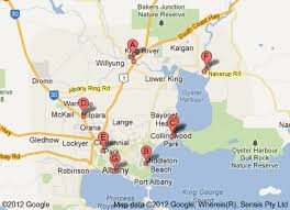 albany map albany caravan parks parks a map to find them