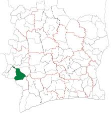 Ivory Coast Map Guiglo Department Wikipedia