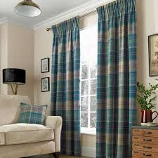 Teal Curtains Hamish Teal Lined Pencil Pleat Curtains Dunelm