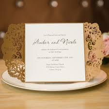 fancy invitations fancy kraft laser cut pocket folded invitation swws012 stylishwedd