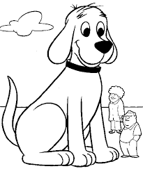 coloring page of a big dog big red dog coloring pages get coloring pages