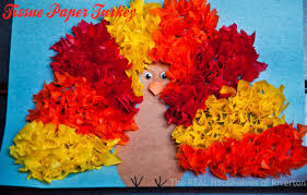 thanksgiving crafts children tissue paper turkey kid u0027s craft