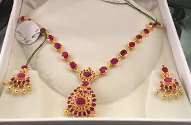 earring necklace ruby images Ruby necklace set jpg