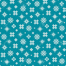pixel wrapping paper vector winter pattern with pixel snowflakes on teal