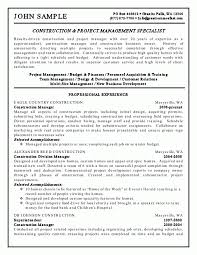 cover letter project management resume examples project manager