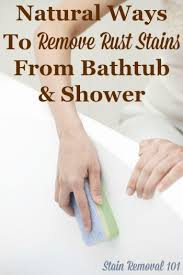 How To Clean Stained Bathtub Removing Rust Stains From Bathtub Natural Home Remedies
