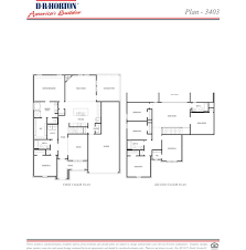 Dr Horton Floor Plans by Plan 3403 Fosters Ridge Conroe Texas D R Horton