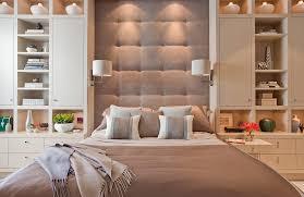 Bedroom Wall Unit Headboard Boston Storage Headboard Bedroom Contemporary With Below Cabinet