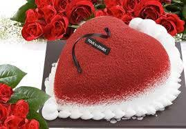 buy valentine cakes red heart from cnc bakery raipur india id