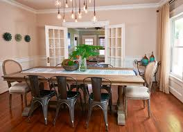 contemporary dining room with hardwood floors by pamela o u0027 brien