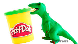 Funny Door Stops by Dinosaurs Play Doh Stop Motion T Rex Dinosaur Animation