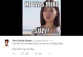 Lee Min Ho Memes - amusing netizens reaction to lee min ho and suzy daily k pop news