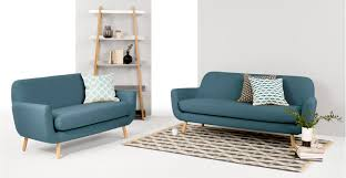 slim two seater sofa jonah 2 seater sofa marine blue made com
