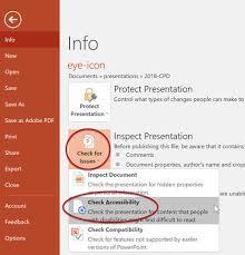 design von powerpoint in word webaim powerpoint accessibility
