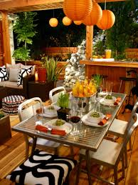 table settings for outdoor entertaining hgtv